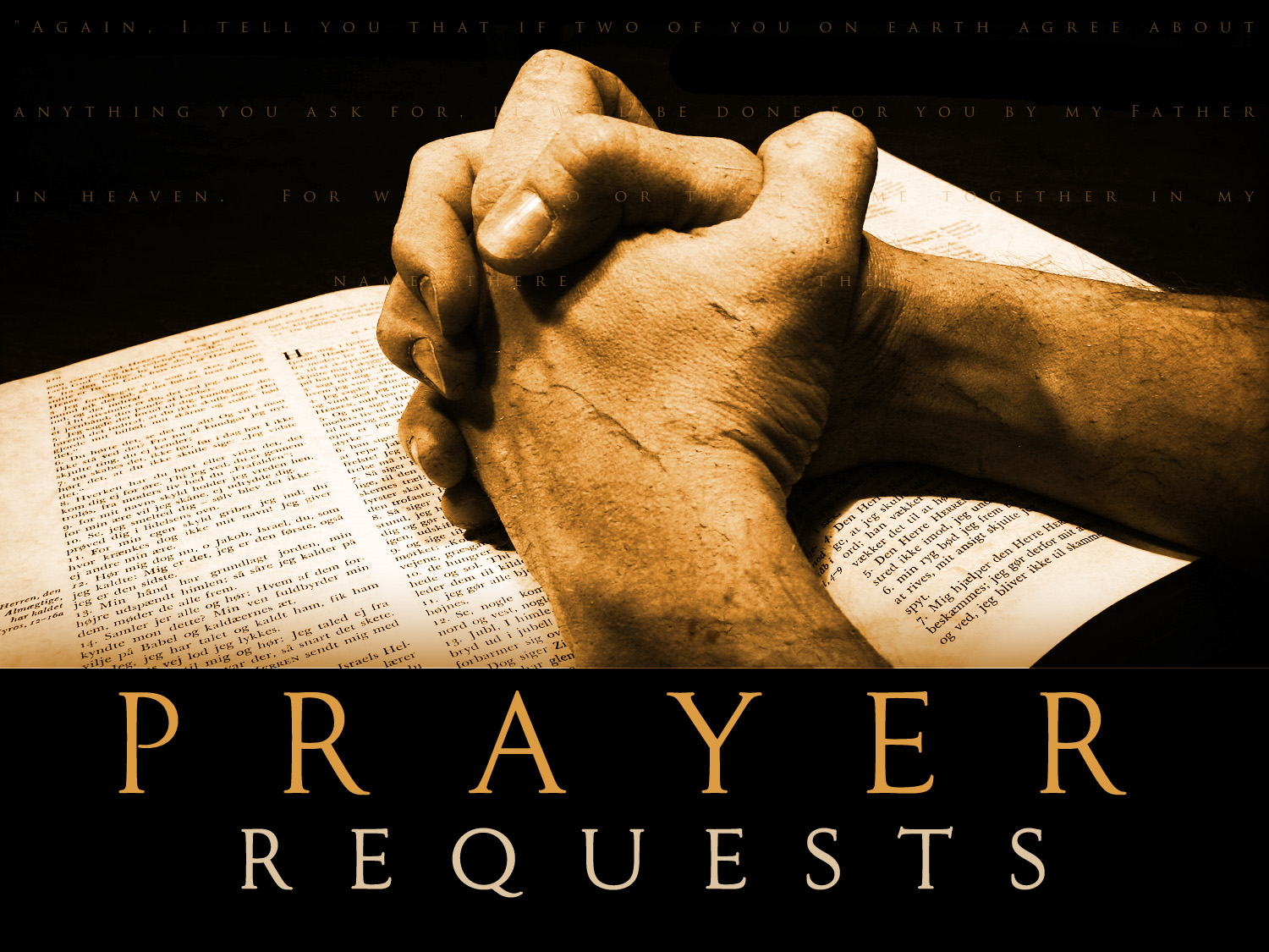Fill The Prayer Request Form
